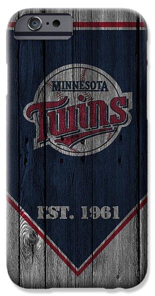 Minnesota iPhone Cases - Minnesota Twins iPhone Case by Joe Hamilton