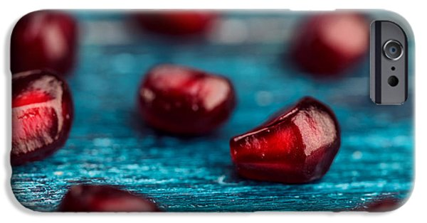 Macro iPhone Cases - Pomegranate iPhone Case by Nailia Schwarz