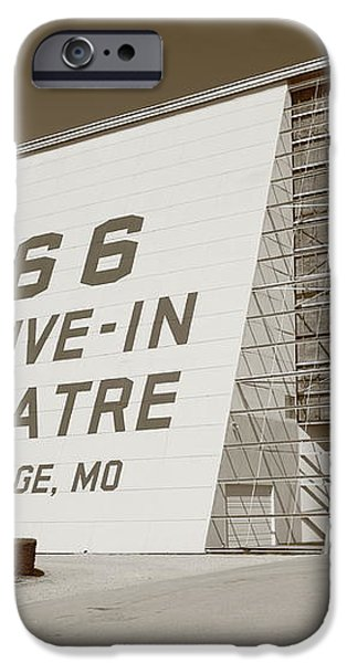 Route 66 - Drive-In Theatre iPhone Case by Frank Romeo