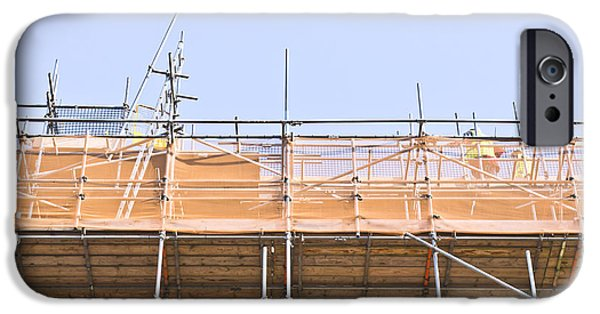 Condition iPhone Cases - Scaffolding iPhone Case by Tom Gowanlock