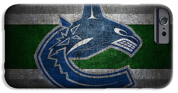 Recently Sold -  - Snow iPhone Cases - Vancouver Canucks iPhone Case by Joe Hamilton