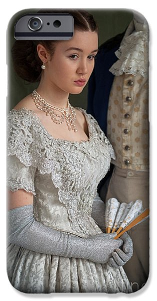 Glitter Glove iPhone Cases - Victorian Couple iPhone Case by Lee Avison