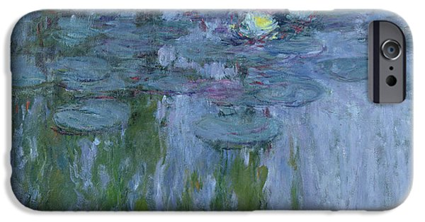 Willow iPhone Cases - Waterlilies iPhone Case by Claude Monet