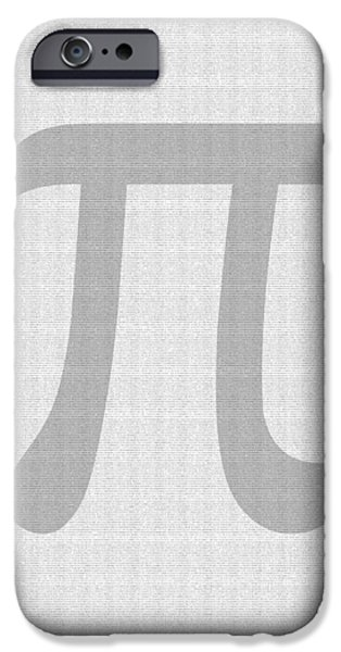 100 Thousand Pieces of Pi iPhone Case by Ron Hedges