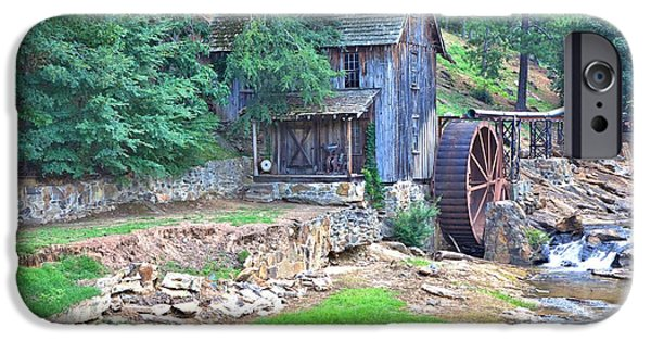 Grist Mill iPhone Cases - Sixes Mill on Dukes Creek iPhone Case by Gordon Elwell