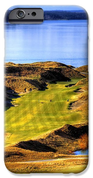 David Patterson iPhone Cases - 10th Hole at Chambers Bay iPhone Case by David Patterson