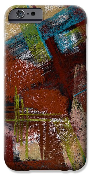 Rust Pastels iPhone Cases - On the Diagonal iPhone Case by Tracy L Teeter