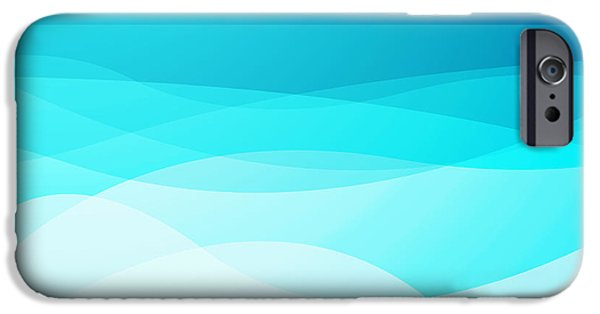 Graphic Design iPhone Cases - Blue Abstract iPhone Case by GP Images