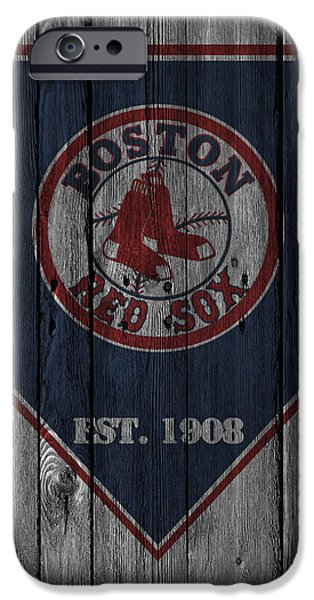 Barns Photographs iPhone Cases - Boston Red Sox iPhone Case by Joe Hamilton