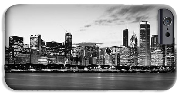 Sears Tower iPhone Cases - Buildings At The Waterfront, Lake iPhone Case by Panoramic Images
