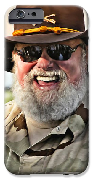 Epiphone Guitar iPhone Cases - Charlie Daniels iPhone Case by Don Olea