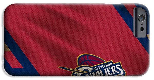 Dunk iPhone Cases - Cleveland Cavaliers Uniform iPhone Case by Joe Hamilton