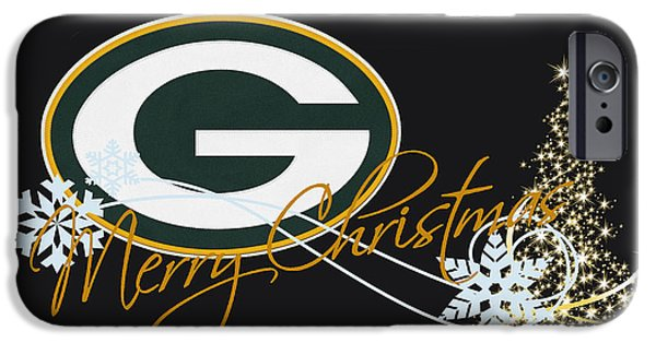 Christmas iPhone Cases - Green Bay Packers iPhone Case by Joe Hamilton