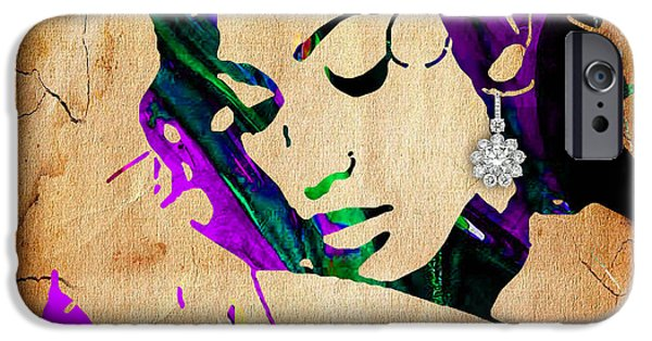 Pop Mixed Media iPhone Cases - Jennifer Lopez Collection iPhone Case by Marvin Blaine