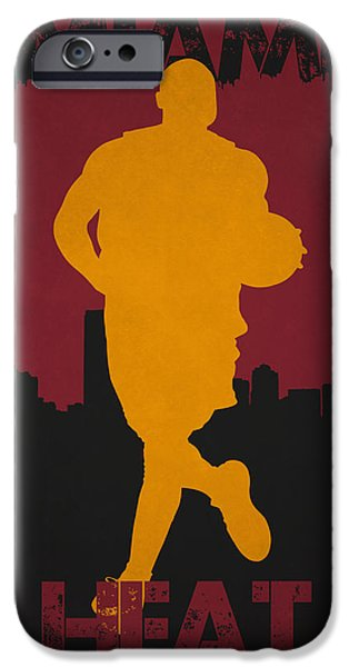 Dunk iPhone Cases - Miami Heat iPhone Case by Joe Hamilton