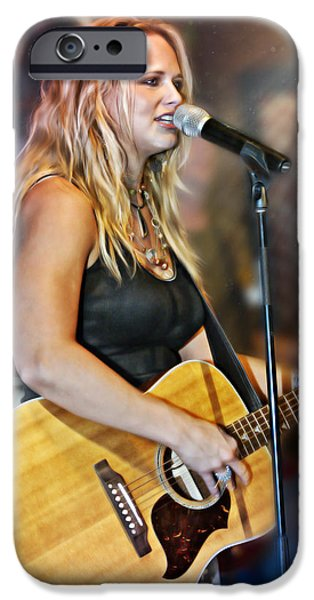 Epiphone Guitar iPhone Cases - Miranda Lambert iPhone Case by Don Olea