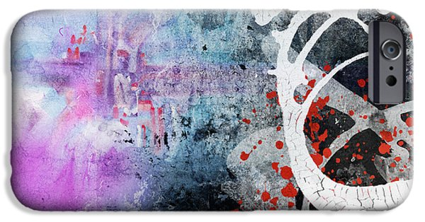 Abstract Digital iPhone Cases - Mixed media abstract iPhone Case by Modern Art Prints