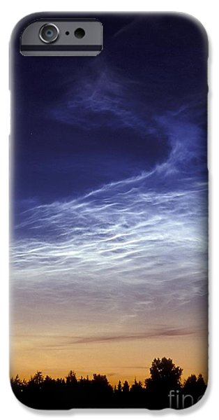 Pines iPhone Cases - Noctilucent Cloud iPhone Case by Pekka Parviainen