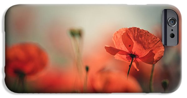 Meadow iPhone Cases - Poppy Meadow iPhone Case by Nailia Schwarz