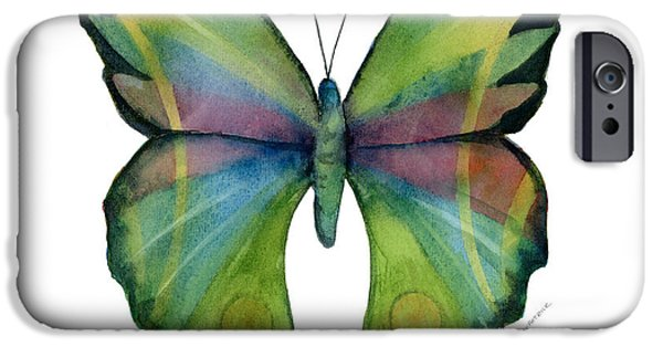 Moth iPhone Cases - 11 Prism Butterfly iPhone Case by Amy Kirkpatrick