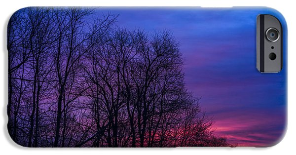 Winter Storm iPhone Cases - Red Sky at Morning iPhone Case by Thomas R Fletcher