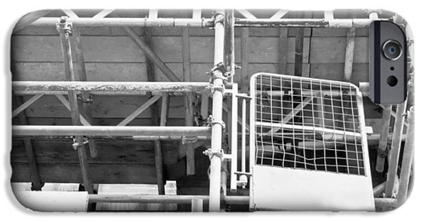 Working Conditions iPhone Cases - Scaffolding iPhone Case by Tom Gowanlock