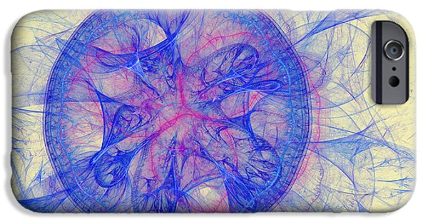 Action Lines Digital Art iPhone Cases - Symmetrical lines and lights figures iPhone Case by Odon Czintos