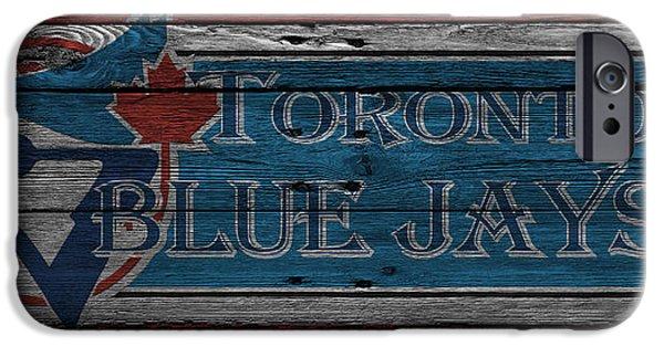 Blue Jay iPhone Cases - Toronto Blue Jays iPhone Case by Joe Hamilton