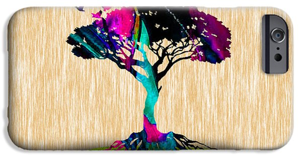Birds iPhone Cases - Tree Of Life Painting iPhone Case by Marvin Blaine
