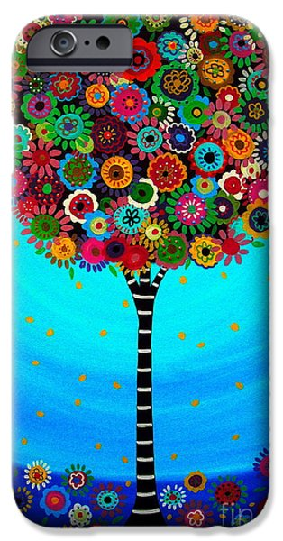 Recently Sold -  - Flower Of Life iPhone Cases - Tree Of Life iPhone Case by Pristine Cartera Turkus