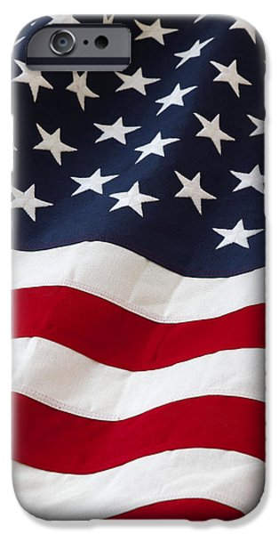 Flag Colors iPhone Cases - Usa iPhone Case by Les Cunliffe