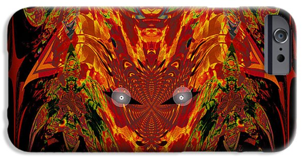Portrait Of Evil iPhone Cases - 1112 -   Trace of Evil iPhone Case by Irmgard Schoendorf Welch