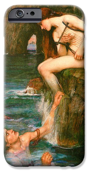 Important Paintings iPhone Cases - The Siren iPhone Case by John Waterhouse