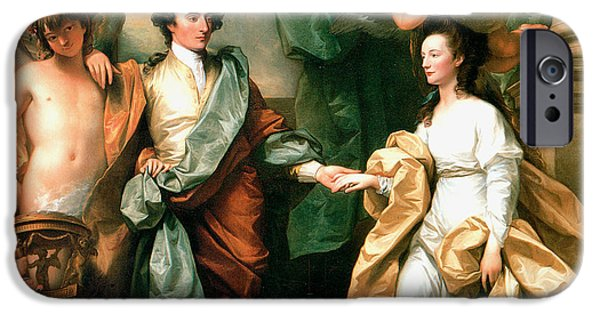 Important Paintings iPhone Cases - Mr and Mrs John Custance iPhone Case by Benjamin West