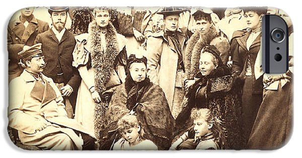 The Royal Family iPhone Cases - 118. Queen Victoria and descendants Coburg 21 April 1894 Print iPhone Case by Royal Portraits