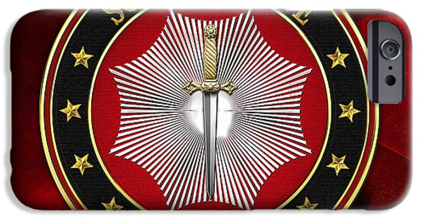 Elected iPhone Cases - 11th Degree - Elu of the Twelve Jewel on Red Velvet iPhone Case by Serge Averbukh
