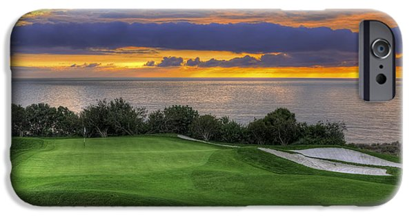 11th iPhone Cases - 11th Green - Trump National Golf Course iPhone Case by Eddie Yerkish