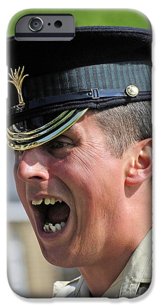 1st Battalion Welsh Guards On The Drill iPhone Case by Andrew Chittock
