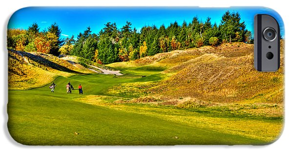 Us Open Photographs iPhone Cases - #12 at Chambers Bay Golf Course - Location of the 2015 U.S. Open Championship iPhone Case by David Patterson