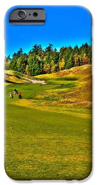#12 at Chambers Bay Golf Course - Location of the 2015 U.S. Open Tournament iPhone Case by David Patterson