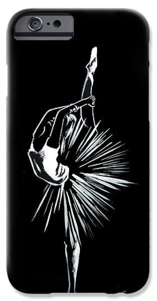 Ballerina Drawings iPhone Cases - Ballerina iPhone Case by Sophia Rodionov