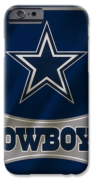 Cowboy iPhone Cases - Dallas Cowboys Uniform iPhone Case by Joe Hamilton