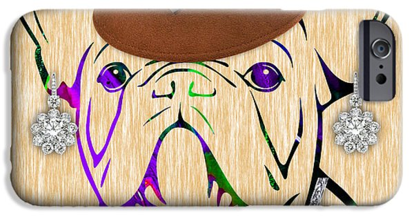 Best Sellers -  - Dogs iPhone Cases - French Bulldog Collection iPhone Case by Marvin Blaine