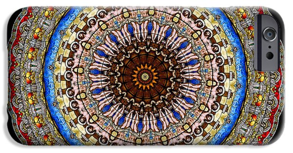 Son Of God Photographs iPhone Cases - Kaleidoscope Stained Glass Window Series iPhone Case by Amy Cicconi