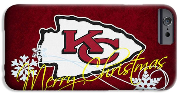 Santa iPhone Cases - Kansas City Chiefs iPhone Case by Joe Hamilton