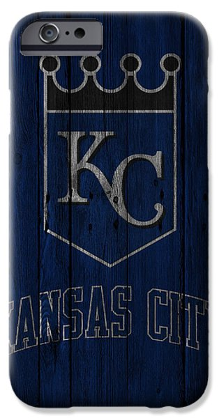 Santa iPhone Cases - Kansas City Royals iPhone Case by Joe Hamilton