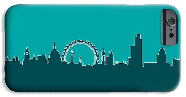 London iPhone Cases - London England Skyline iPhone Case by Michael Tompsett