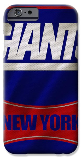Giant iPhone Cases - New York Giants Uniform iPhone Case by Joe Hamilton