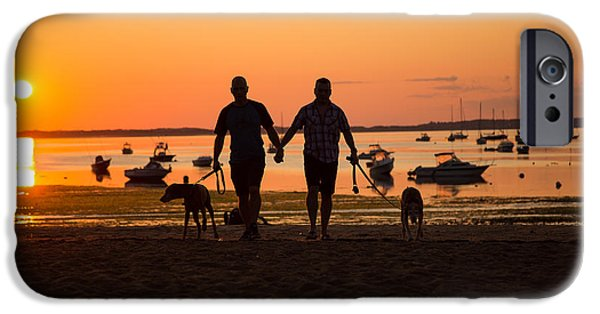 Dogs iPhone Cases - 12-paw At Sunrise iPhone Case by Allan Morrison