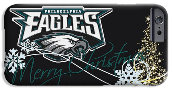 Snow iPhone Cases - Philadelphia Eagles iPhone Case by Joe Hamilton